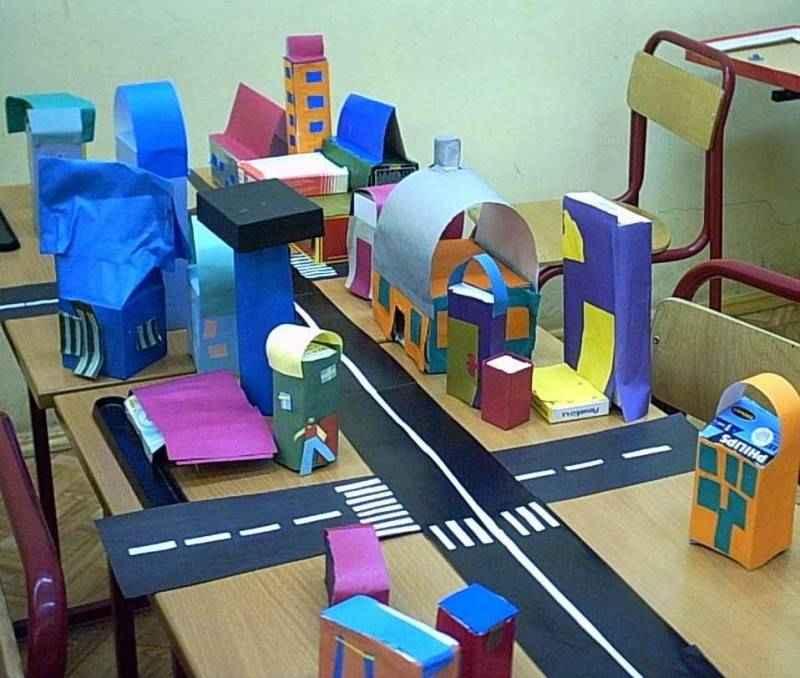 Макет города из бумаги своими руками 46
