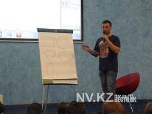 Евгений на авторском  мастер-классе