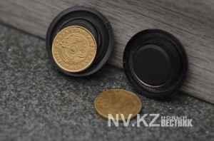 Новые казахстанские монеты магнитятся