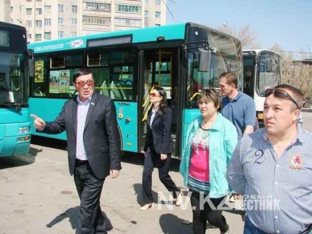 Депутаты на том рейде по работе общественного транспорта