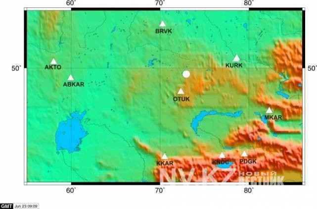 эпицентра землетрясения на