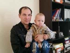 Отец Виктор с маленьким Матвеем