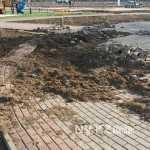 Остатки тротуара