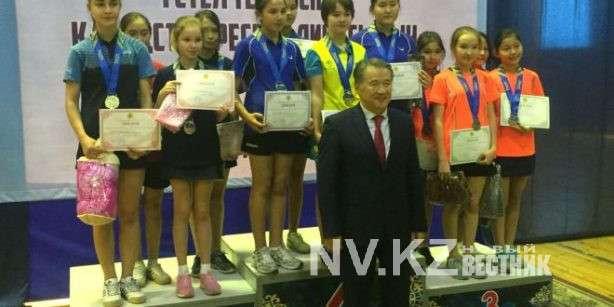 Карагандинская команда стала первой в чемпионате РК по настольному теннису