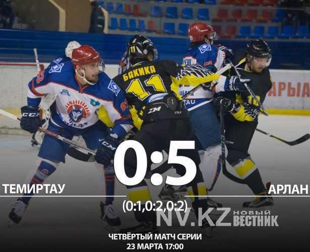 «Арлан» разгромил «Темиртау» в третьем матче серии