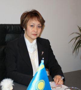 Глава Медицинского университета Раушан Досмагамбетова.
